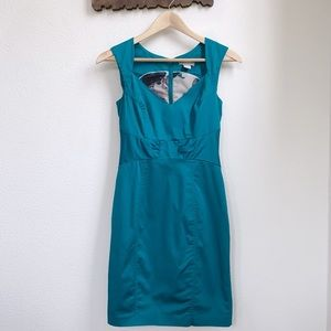 H&M | Sweetheart Teal Fitted Dress